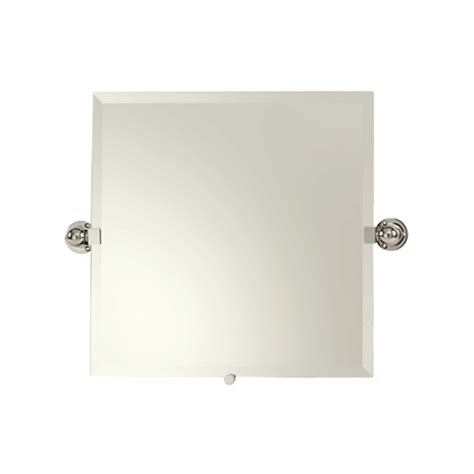 pivoting bathroom mirror city 212 20 quot x 20 quot small frameless pivoting mirror
