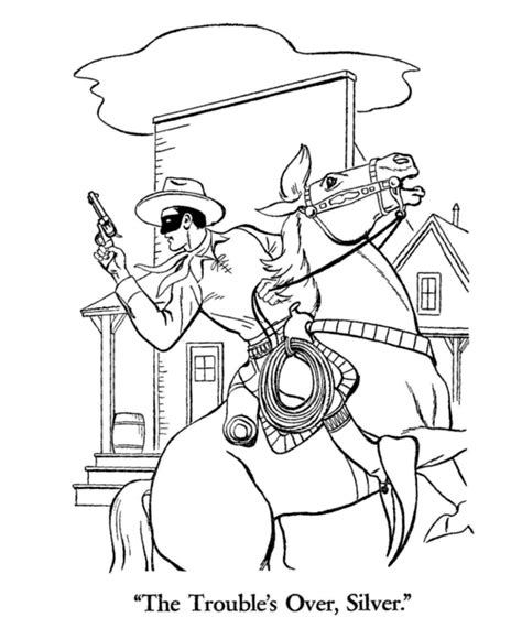 Lone Ranger Coloring Pages lone ranger coloring pages coloring home