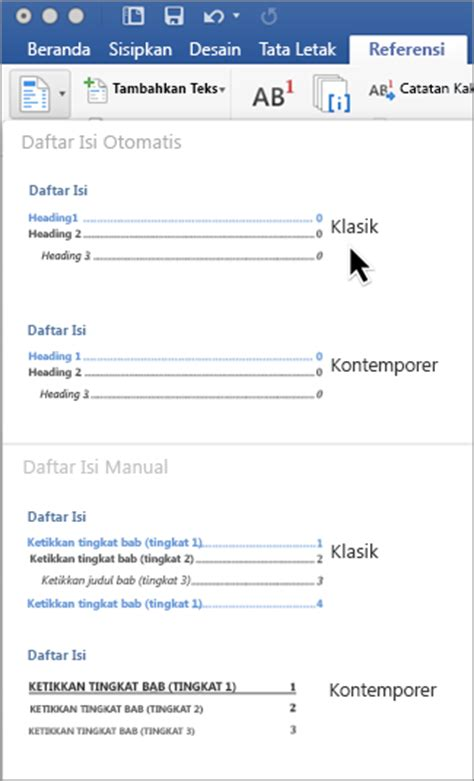 Membuat Daftar Isi Word Mac | contoh gaya bahasa tingkatan 2 top 10 work at home jobs