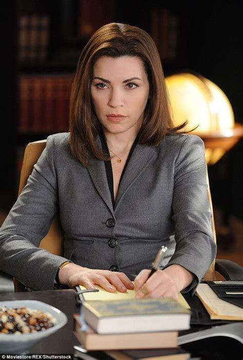 the good wife hairstyle julianna margulies appears to confirm the end of alicia florrick in the good wife daily mail