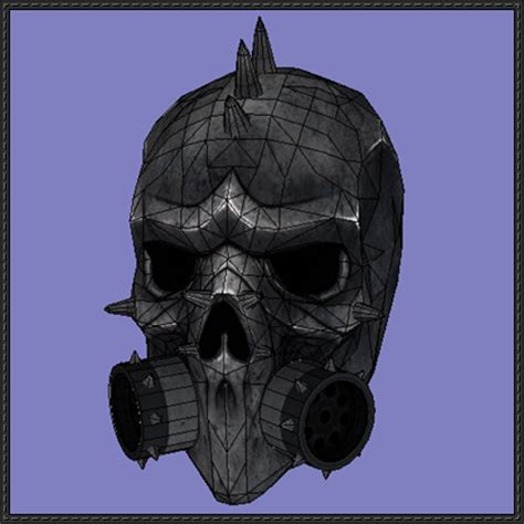 Papercraft Gas Mask - payday 2 metalhead mask free papercraft