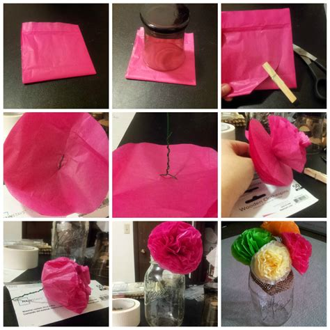 How To Make Paper Decorations For Baby Shower - tissue paper baby shower flowers college