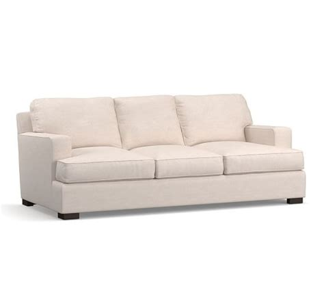 townsend upholstered square arm sofa collection pottery barn