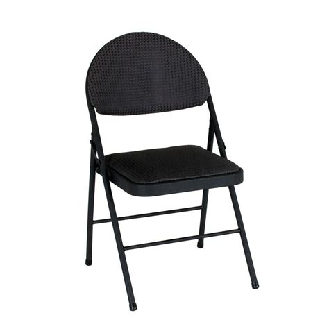cosco black folding chair set   tmse  home depot