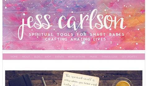 personal blog layout ideas 20 artistic watercolor website designs