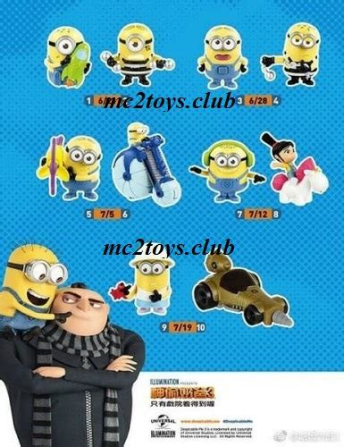 Promo Happy Meal Agnes Rockin Unicorn Minion Mcd Mcdonald Minions mcdonald s minion despicable me 3 happy meal 2017 set of 10pcs asia version mc2toys club