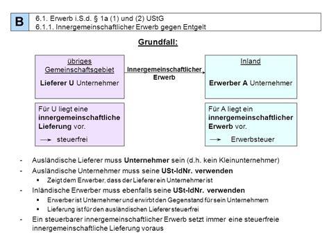Musterrechnung Steuerfreie Innergemeinschaftliche Lieferung Gliederung A Abgabenordnung B Umsatzsteuer Ppt Herunterladen