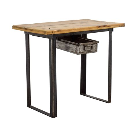 rustic metal and wood dining table 88 rustic wood table with metal drawer tables