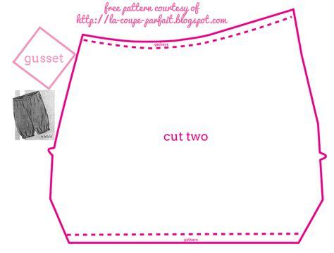 Pattern For Tap Pants | la coupe parfaite free 1930 tap pants pattern