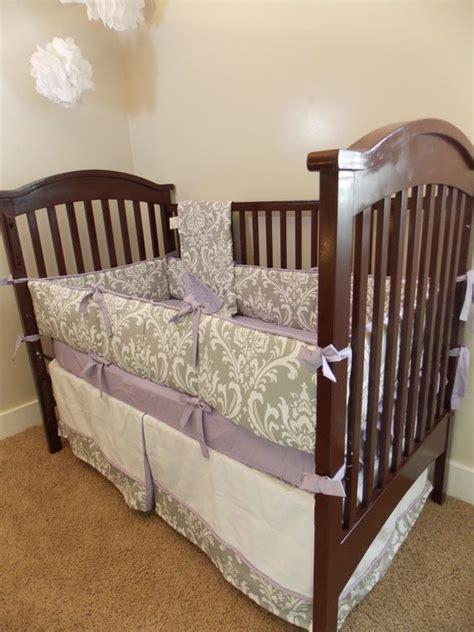 lavender crib bedding custom owl purple lavender yellow grey crib bedding