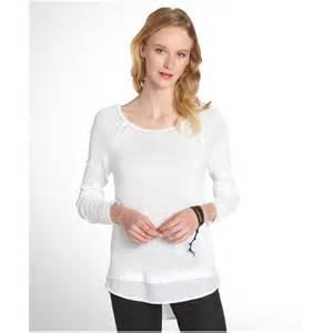 women s white contrast hem sweater dress journal