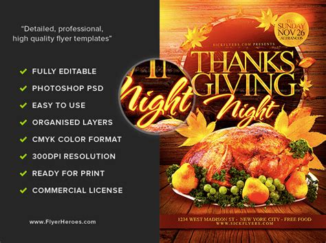 Thanksgiving Night Flyer Template Flyerheroes Thanksgiving Flyer Template Free