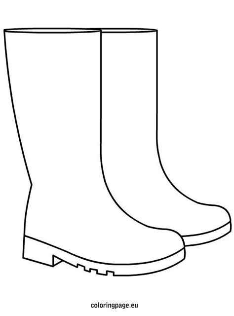 Boot Template by Boots Template Blackline Masters Templates