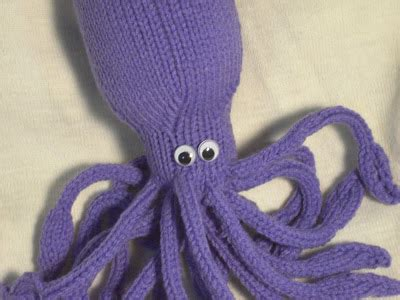 knitted squid tatting my doilies knitted squid yippee