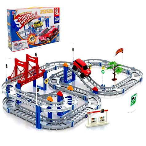 mainan edukasi car track 88 pieces do it yourself toys