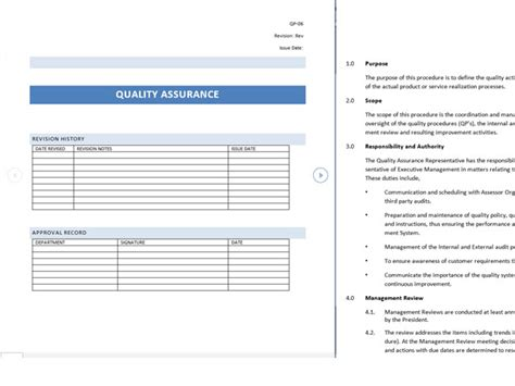 quality assurance metrics template image collections