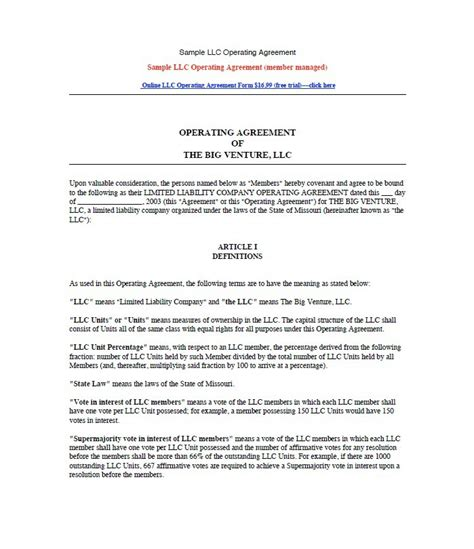 llc resolution template 30 professional llc operating agreement templates