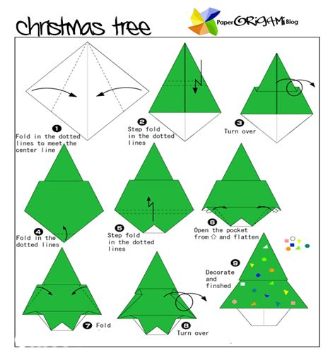 Easy Origami Tree - tree kerstvouwen tree