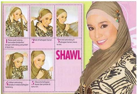 tutorial hijab turban ala fatin cara memakai pashmina model gypsi tutorial memakai