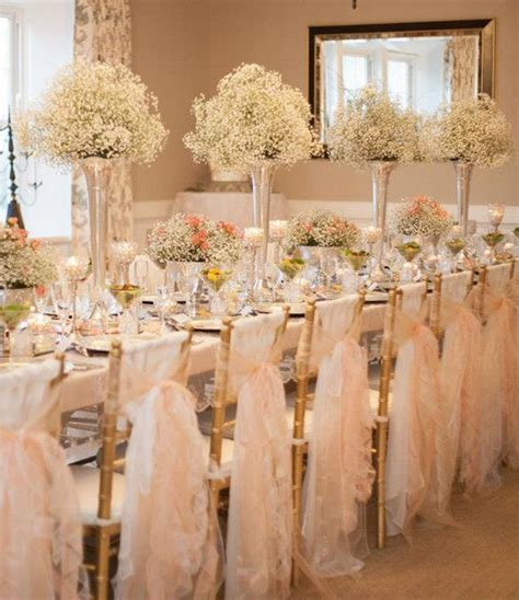 wedding table and chair decorations romantique wedding reception decorations baby s breath