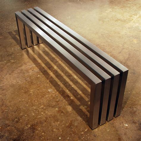 linear bench sarabi studio industrial handcrafted furniture touch