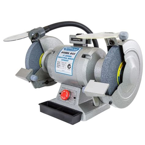 linishall bench grinder bg8 linishall 8 quot bench grinder 200mm 750watt c w work