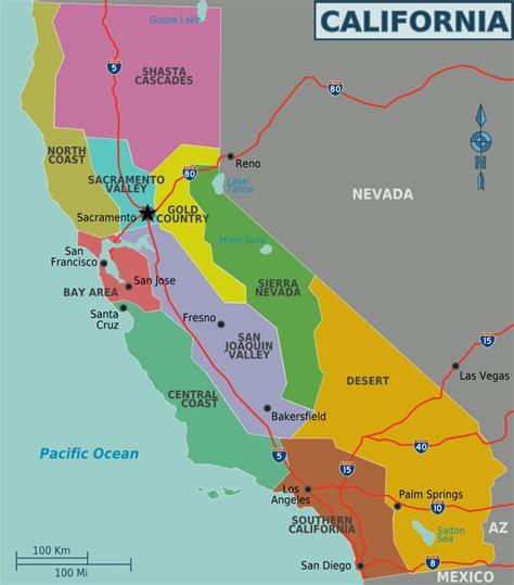regions on a map map of california regions worldofmaps net