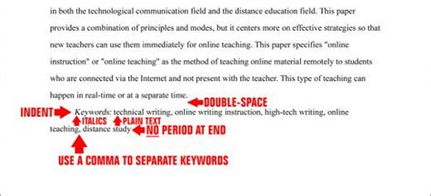 thesis abstract keywords format the abstract page in apa style 6th edition