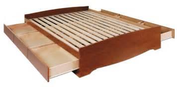 Platform Beds San Diego Prepac Cherry Platform Storage Bed 6 Drawers