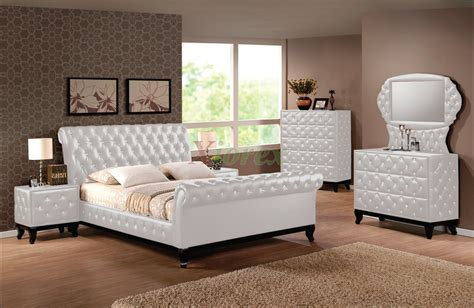 white leather bedroom set bathroom upholstered sleigh bed for exclusive bedroom