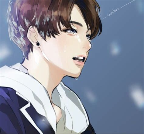 V Anime Fanart by Fanart Bts And I On