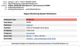 Html Notifications For Nagios Outage Email Template