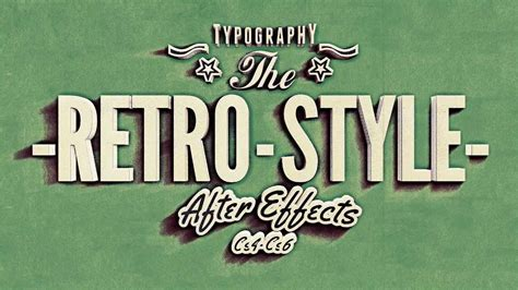 typography projects kinetic typography vintage retro style after effects