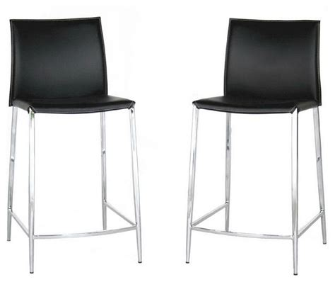 black leather bar stools counter height baxton studio jenson black leather counter height stool