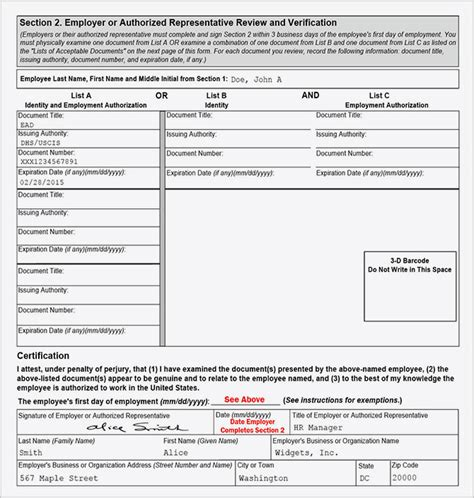 Printable I 9 Form | 11 best photos of print out form i 9 2014 i 9 form