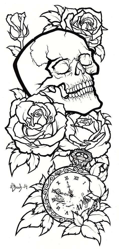 skull tattoo stencil designs skull design lineart by blueundine deviantart