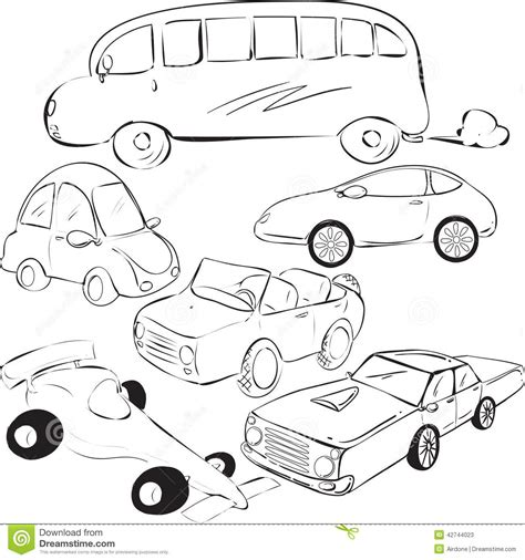 doodle car cars doodle stock vector image 42744023