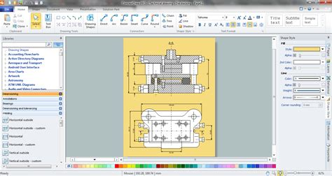 free doodle software how to create a mechanical diagram technical drawing