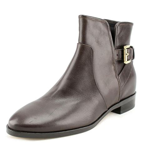 boots womens michael michael kors salem ankle boots leather brown