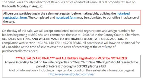 St Louis County Property Tax Records Louis County Property Auction Or Tax Sale Every August St Louis Wholesale
