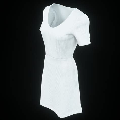White Low Poly 3d model white dress vr ar low poly obj cgtrader
