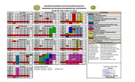 Kalender 2018 Muhammadiyah Kalender Pendidikan Th 2016 2017 Madrasah Muallimin
