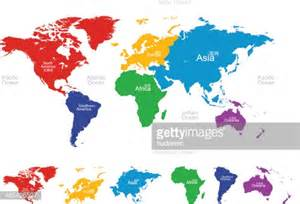 asia america map vector map of the world americaeuropeasiaoceaniaafrica