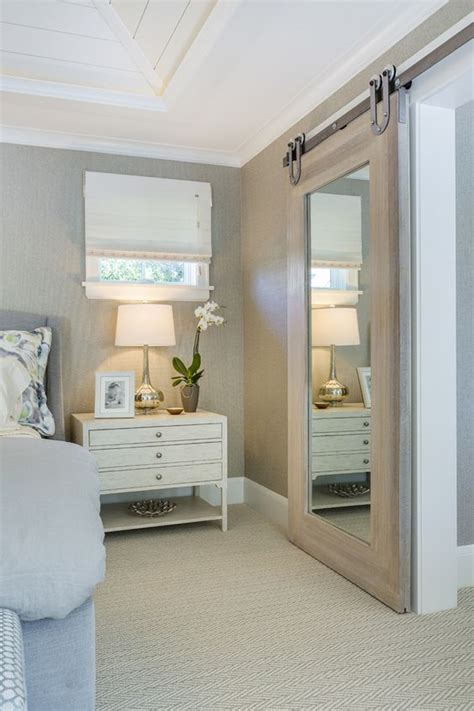 Mirrored Sliding Barn Door 20 Mirror Closet And Wardrobe Doors Ideas Shelterness