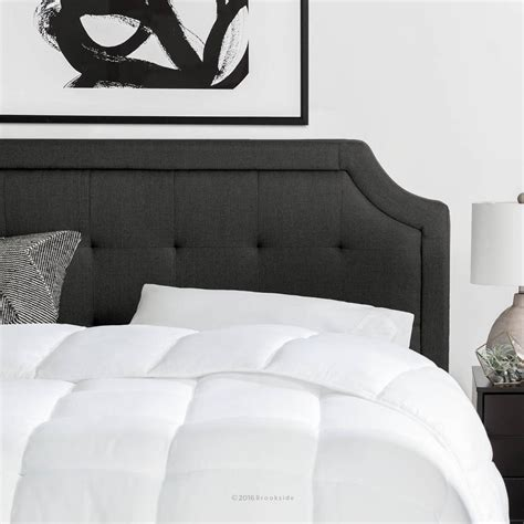 black and white headboards brookside upholstered scoop edge california king headboard