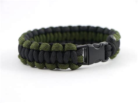 paracord od green 550 paracord survival bracelet od green and black cobra weave