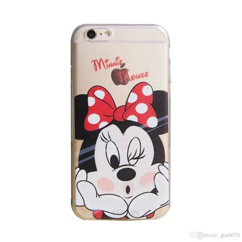 Casecassingcasing For Iphone 6 6s Plus Soft Minnie minnie mouse transparent gel tpu silicone soft shell back cover for apple iphone 5 5s
