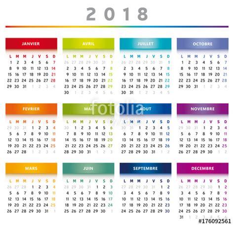 Peru Calendrier 2018 Quot Calendrier 2018 En Fran 231 Ais Couleurs Arc En Ciel Format