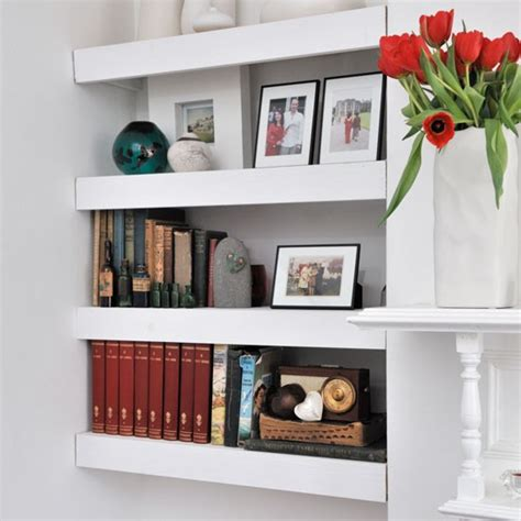 Living Room Alcove Shelving Ideas Floating Shelves In Living Room Alcove Living Room
