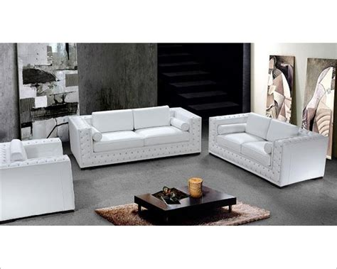 Luxurious Black Or White Leather Sofa Set 44l0697 Luxurious Leather Sofas